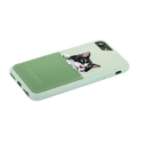 Накладка JANESPER вышивка для iPhone 6 JS-IP8Bella-MT Зеленая