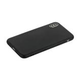 Чехол силиконовый для iPhone XS уплотненный в техпаке (черный)