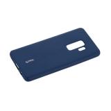Чехол-накладка силиконовый Cherry матовый 0.4mm & пленка для Samsung Galaxy S9 Plus Синий