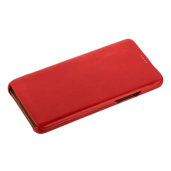 Чехол-книжка кожаный iCarer для Samsung GALAXY S9+ SM-G965F Curved Edge (округлые края) Vintage Series (RS992001) Красный