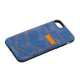 Чехол-накладка XOOMZ для iPhone 8 Pocket PU Back Cover (XI719) джинсовый Голубой