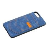 Чехол-накладка XOOMZ для iPhone 8 Plus Pocket PU Back Cover (XIP7019) джинсовый Голубой