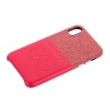 Чехол-накладка XOOMZ для iPhone XS (5.8) Brogue Series Card Slot Back Cover (XIX24) Красный