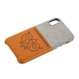 Чехол-накладка XOOMZ для iPhone X (5.8) Brogue Series Card Slot Back Cover (XIX24) Коричневый