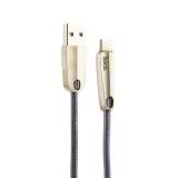 USB дата-кабель Hoco U35 Space shuttle smart power off Type-C (1.2 м) Gray