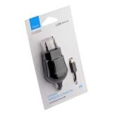 Сетевое зарядное устройство Deppa D-23120 microUSB, 1A (1.2m) Черный