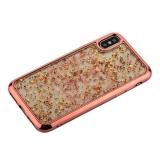 Накладка пластиковая Santa Barbara Polo&Racquet Clory Series для iPhone X (5.8) силиконовый борт Розовое-золото