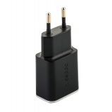 Адаптер питания Deppa Wall charger 2.4А D-11381, дата-кабель microUSB 1.2m (2USB: 5V 2.4A) Черный