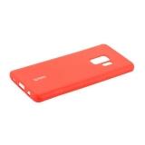 Чехол-накладка силиконовый Cherry матовый 0.4mm & пленка для Samsung Galaxy S9 Красный
