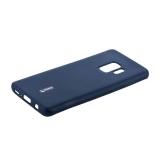 Чехол-накладка силиконовый Cherry матовый 0.4mm & пленка для Samsung Galaxy S9 Синий