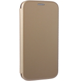 Чехол-книжка кожаный Fashion Case Slim-Fit для Samsung S7 Edge Gold Золотистый