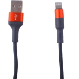 USB дата-кабель Hoco X26 Xpress charging data cable Lightning (1.0 м) Black & Red