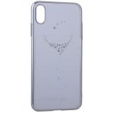 Чехол-накладка KINGXBAR для iPhone XS Max пластик со стразами Swarovski 49F серебристый (The One)
