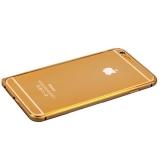 Бампер Fashion Case для iPhone 6s Plus/ 6 Plus (5.5) металлический (замок сбоку) золотистый с золотой полоской