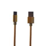 USB дата-кабель Remax Gefon Series Cable (RC-110m) MicroUSB 2.4A круглый (1.0 м) Золотой