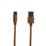 USB дата-кабель Remax Gefon Series Cable (RC-110a) Type-C 2.4A круглый (1.0 м) Золотой