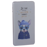 Аккумулятор внешний универсальный Hoco J13-10000 mAh Adorable puppy Power bank (2 USB: 5V-2.1A) Trendy