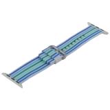 Ремешок COTEetCI W30 Nylon Rainbow Band (WH5250-WB-38) для Apple Watch 38 мм Бело-Синий