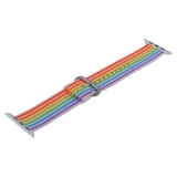 Ремешок COTEetCI W30 Nylon Rainbow Band (WH5251-RB-42) для Apple Watch 42 мм Красно-Синий