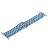 Ремешок COTEetCI W30 Nylon Rainbow Band (WH5251-WB-42) для Apple Watch 44 мм Бело-Синий