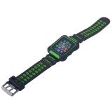 Ремешок COTEetCI W31 PC&Silicone Band Suit (WH5252-BG) для Apple Watch 44 мм Черно-Зеленый