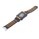 Ремешок COTEetCI W31 PC&Silicone Band Suit (WH5252-BO) для Apple Watch 42 мм Черно-Оранжевый