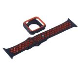 Ремешок спортивный COTEetCI W32 Sports Band Suit (WH5253-BK+RD-38) для Apple Watch 40 мм Черно-Красный