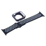 Ремешок спортивный COTEetCI W32 Sports Band Suit (WH5255-BK+WH-42) для Apple Watch 44 мм Черно-Белый