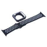 Ремешок спортивный COTEetCI W32 Sports Band Suit (WH5255-BK+WH-42) для Apple Watch 42 мм Черно-Белый