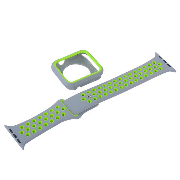 Ремешок спортивный COTEetCI W32 Sports Band Suit (WH5255-GY+YL-42) для Apple Watch 44 мм Серебристо-Желтый