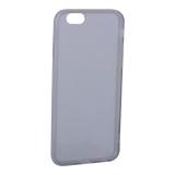 Чехол силиконовый для iPhone 6S/ 6 (4.7) уплотненный в техпаке (прозрачно-чёрный)