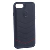 Накладка PULOKA для iPhone 8 PC+TPU волны Черная