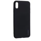 Чехол-накладка Deppa Case Silk TPU Soft touch D-89036 для iPhone XS Max (6.5) 1мм Черный металик
