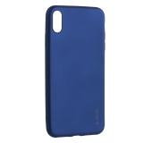 Чехол-накладка Deppa Case Silk TPU Soft touch D-89037 для iPhone XS Max (6.5) 1мм Синий металик