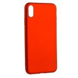 Чехол-накладка Deppa Case Silk TPU Soft touch D-89038 для iPhone XS Max (6.5) 1мм Красный металик