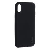 Чехол-накладка Deppa Case Silk TPU Soft touch D-89040 для iPhone X 1.0 мм Черный металик