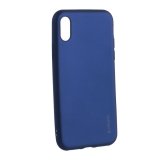 Чехол-накладка Deppa Case Silk TPU Soft touch D-89041 для iPhone X (5.8) 1 мм Синий металик