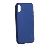 Чехол-накладка Deppa Case Silk TPU Soft touch D-89041 для iPhone X (5.8) 1мм Синий металик