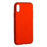 Чехол-накладка Deppa Case Silk TPU Soft touch D-89042 для iPhone X 1.0 мм Красный металик
