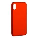 Чехол-накладка Deppa Case Silk TPU Soft touch D-89042 для iPhone X (5.8) 1мм Красный металик