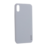Чехол-накладка силикон Deppa Gel Color Case TPU D-85356 для iPhone XS Max (6.5) 0.8мм Белый