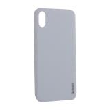 Чехол-накладка силикон Deppa Gel Color Case TPU D-85356 для iPhone XS Max 0.8 мм Белый