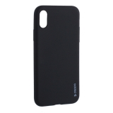 Чехол-накладка силикон Deppa Gel Color Case TPU D-85359 для iPhone X (5.8) 0.8мм Черный