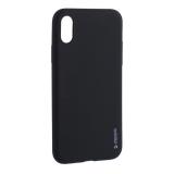 Чехол-накладка силикон Deppa Gel Color Case TPU D-85359 для iPhone XS 0.8 мм Черный
