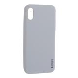 Чехол-накладка силикон Deppa Gel Color Case TPU D-85360 для iPhone X 0.8 мм Белый