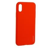 Чехол-накладка силикон Deppa Gel Color Case TPU D-85361 для iPhone XS (5.8) 0.8 мм Красный