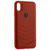 Накладка PULOKA для iPhone XS Max (6.5) PC+TPU волны Красная