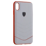 Накладка PULOKA для iPhone XS Max (6.5) PC+TPU волны Белая