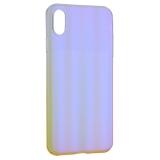 Чехол-накладка пластиковый Meephone 0.5mm для iPhone XS Max (6.5) Q/MFXD 001 Золотисто-фиолетовый оттенок