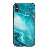 Чехол-накладка закаленное стекло Deppa Glass Case D-86506 для iPhone X (5.8) 2.0 мм Голубой
